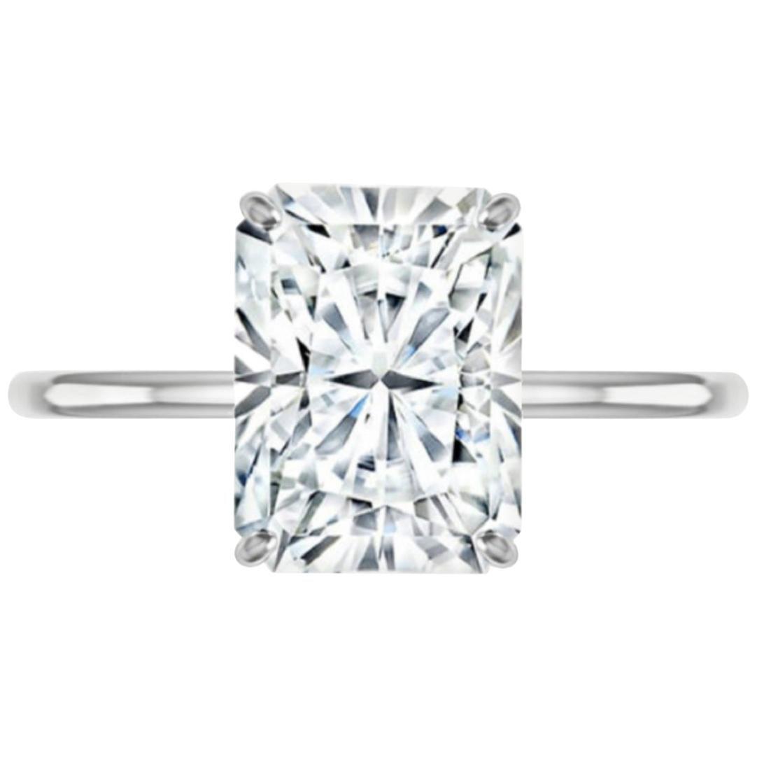 GIA Certified 5 Carat Radiant Cut Diamond Ring