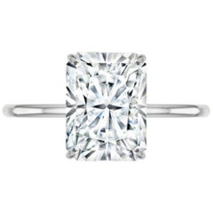 GIA Certified 5 Carat Radiant Cut Diamond Ring