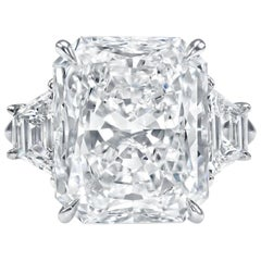 GIA Certified 4 Carat Radiant Cut Diamond Ring VVS1 Clarity H Color Triple Ex