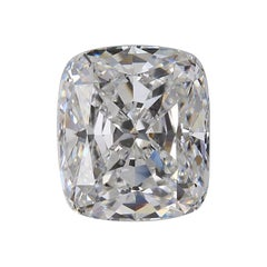 GIA Certified 5.03 Carat Cushion Diamond