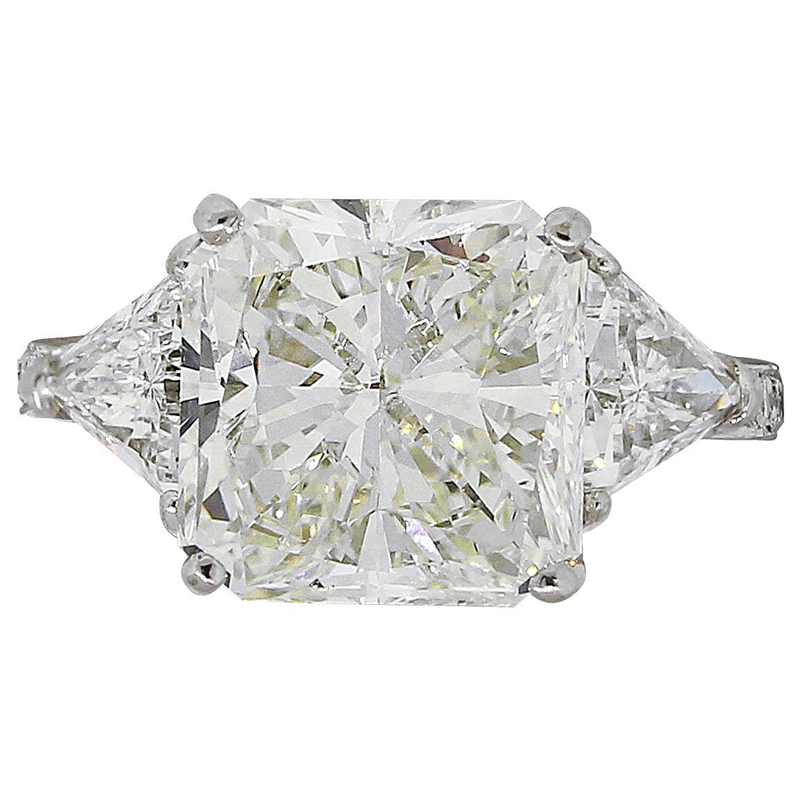 GIA Certified 5.03 Carat Diamond Engagement Ring