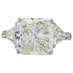 GIA Certified 5.03 Carat Diamond Engagement Ring
