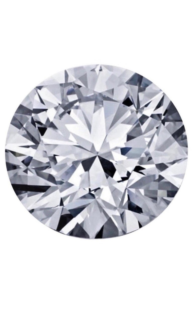 GIA Certified 5.03 Carat F VS2 Round Cut Diamond In New Condition For Sale In New York, NY
