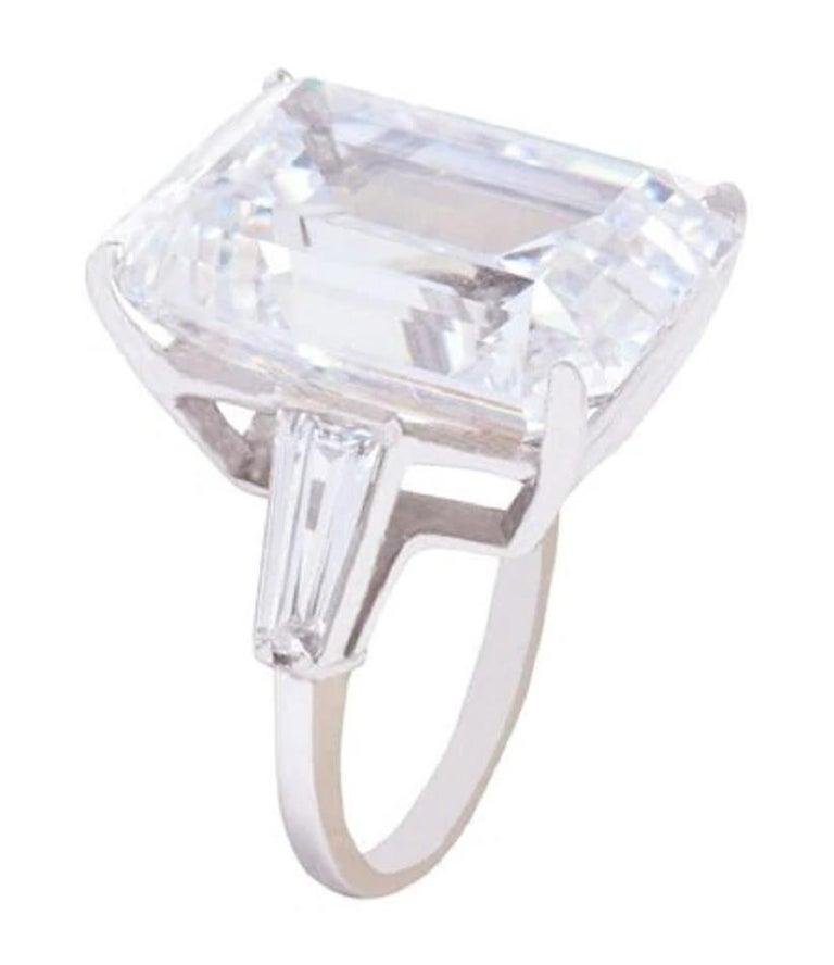 Gia Certified 4.50 Carat Emerald Cut Diamond Ring