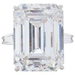 GIA Certified 4.50 Carat Emerald Cut Diamond Ring VVS1 G Color