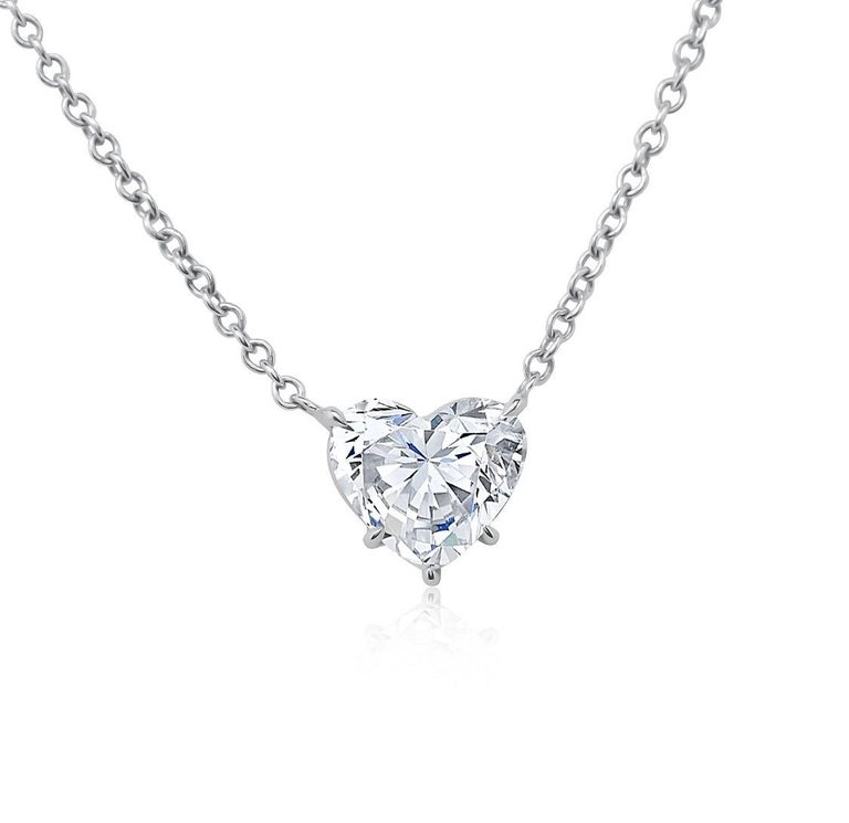 Heart Cut GIA Certified 5.04 Carat Heart Shape Diamond Pendant Necklace For Sale