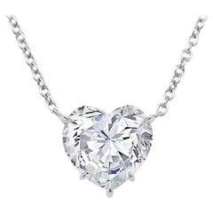 GIA Certified 5.04 Carat Heart Shape Diamond Pendant Necklace