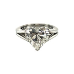 GIA Certified 5.04 Carat Heart-Shaped Diamond Ring in 18 Karat White Gold