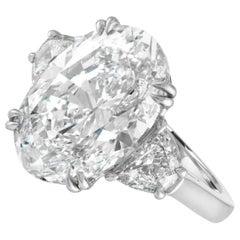 GIA Certified 5 Carat Oval Brilliant Cut Diamond Ring