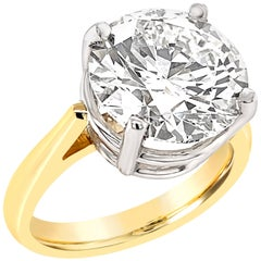 GIA Certified 5.11 Carat Diamond Solitaire Ring