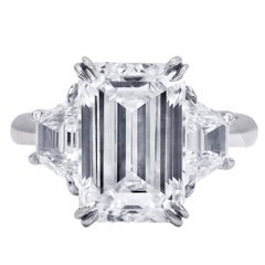 GIA Certified 5.11 Carat H-VVS2 Diamond Ring