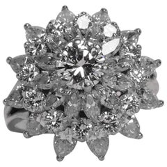 GIA Certified .52 Carat Diamond Platinum Ring