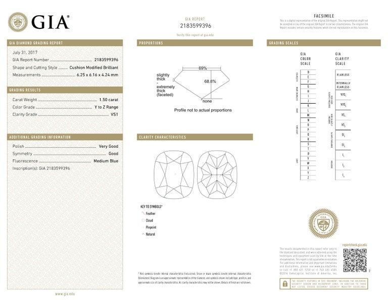 Modern GIA Certified 5.20 Carat Drop Diamond Earrings 18 Karat White Gold For Sale