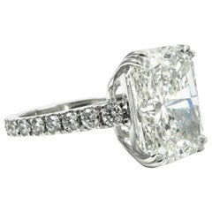 GIA Certified 5.30 Carat Natural Untreated Radiant Cut Diamond Ring