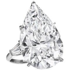 GIA Certified 5.30 Carat Pear Cut Diamond F Color VS2