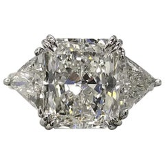INTERNALLY FLAWLESS F Color GIA Certified 1.90 Carat Radiant Cut Diamond Ring