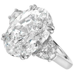 GIA Certified 4.65 Carat Oval Brilliant Cut Diamond Ring