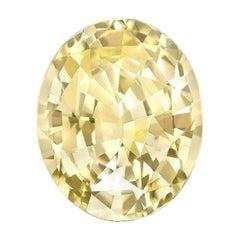 GIA Certified 5.56 Ct Natural Ceylon Yellow Sapphire Loose Ring Gemstone
