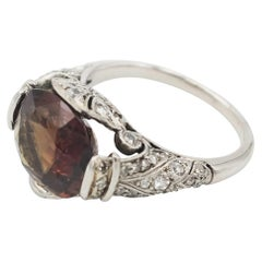GIA Certified 5.59 Carat Oval Alexandrite Set on an Art Nouveau Ring