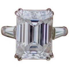 GIA Certified Emerald Cut J VS1 Diamond Ring