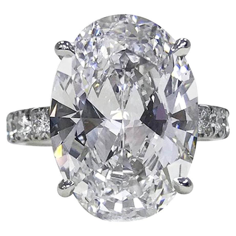 GIA Certified 5.65 Carat Oval Diamond Platinum Solitaire Ring