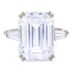 GIA Certified 5.00 Carat Emerald Cut Diamond Platinum Ring