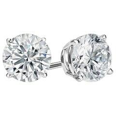 GIA Certified 5.80 Carat Diamond Studs