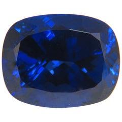 GIA Certified 58.21 Carat Natural Blue Cushion Cut Tanzanite Magnificent