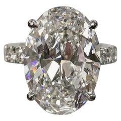 GIA Certified 5.50 Carat Oval Diamond Ring