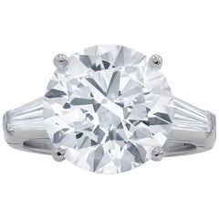 GIA Certified 6 Carat Solitaire Diamond Platinum Engagement Ring