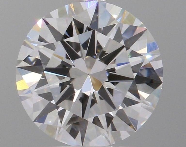 Modern GIA Certified 6.02 Carat VS Clarity E/F Color Round Brilliant Cut Diamonds For Sale
