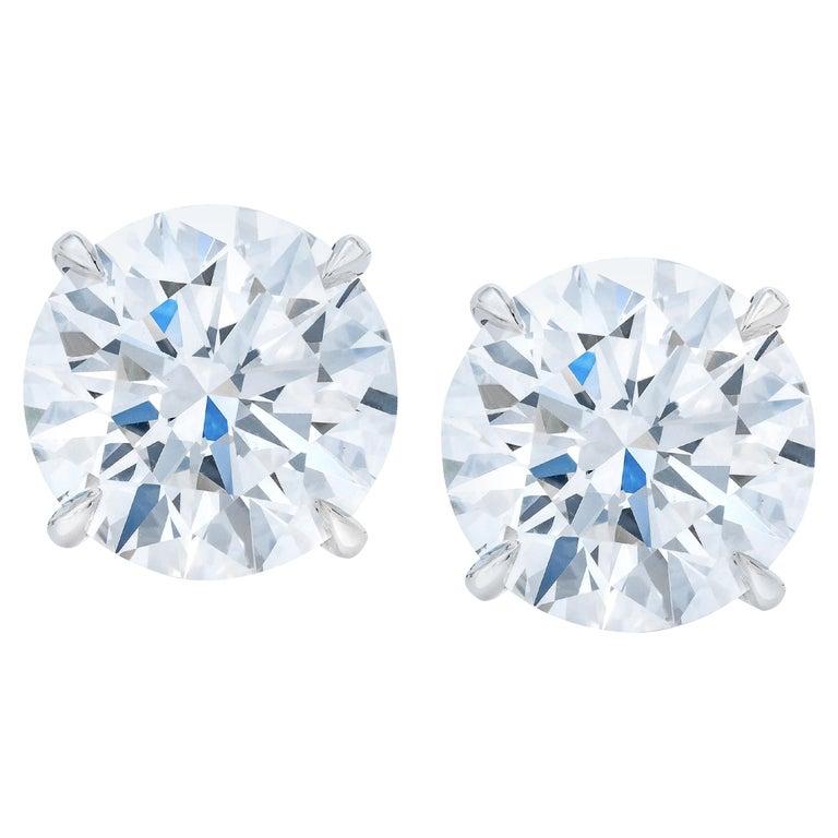 GIA Certified 6.02 Carat VS Clarity E/F Color Round Brilliant Cut Diamonds For Sale