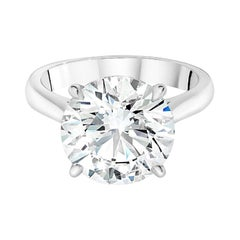 GIA Certified 6.01 Carat E Color VS2 Clarity Platinum Ring