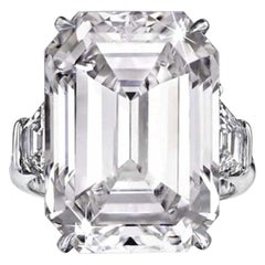 GIA Certified 6.01 Carat Emerald Cut Diamond Ring