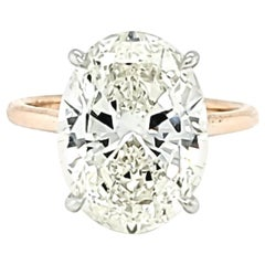 GIA Certified 6.01 Carat Oval Cut Diamond Ring