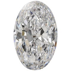 GIA Certified 6.01 Carat Oval Diamond Flawless D Color Excellent Cut and Polish
