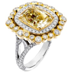 GIA Certified 6.01 Carat Fancy Brownish Yellow Diamond Cocktail Ring