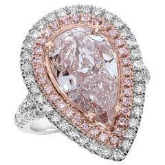 GIA Certified 6.04 Carat Natural Argyle Fancy Light Pink Diamonds Ring