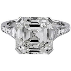 GIA Certified 6.06 Carat Emerald Cut Diamond Engagement Ring