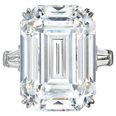 AMAZING GIA Certified 6.50 Carat Emerald Cut Diamond Ring