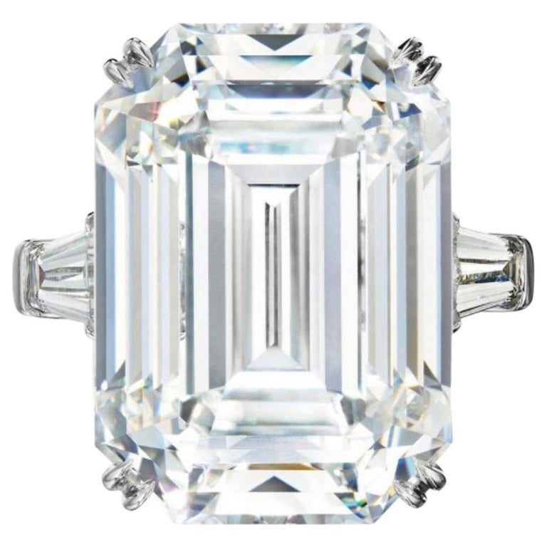 AMAZING GIA Certified 6.50 Carat Emerald Cut Diamond Ring For Sale