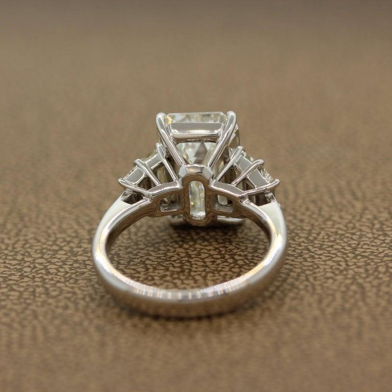 GIA Certified 6.40 Carat Emerald Cut Diamond Engagement Ring, J-VVS2 For Sale 2