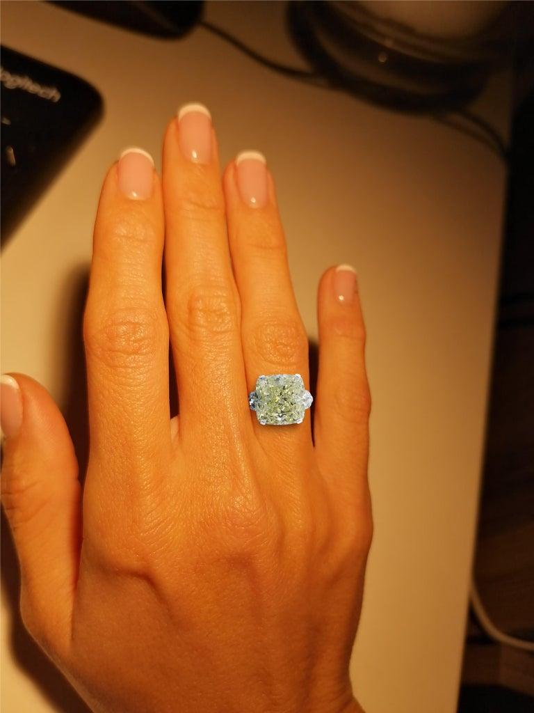 GIA Certified 5.65 Carat Fancy Brown Yellow Cushion Diamond Ring VS2 Clarity