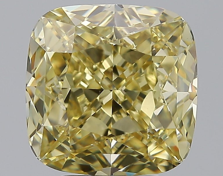 Modern GIA Certified 5.65 Carat Fancy Brown Yellow Cushion Diamond Ring  For Sale