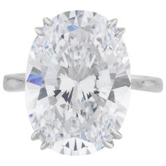 GIA Certified 6.52 Carat Oval Diamond Ring