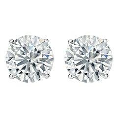 GIA Certified 6.74 Carat Diamond Studs