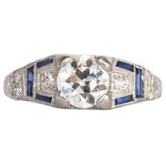 GIA Certified .69 Carat Diamond Platinum Engagement Ring