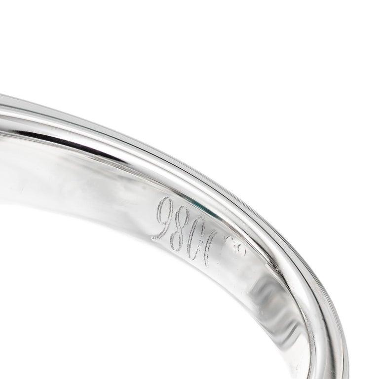 GIA Certified 6.90 Carat Tourmaline Diamond Platinum Ring 2