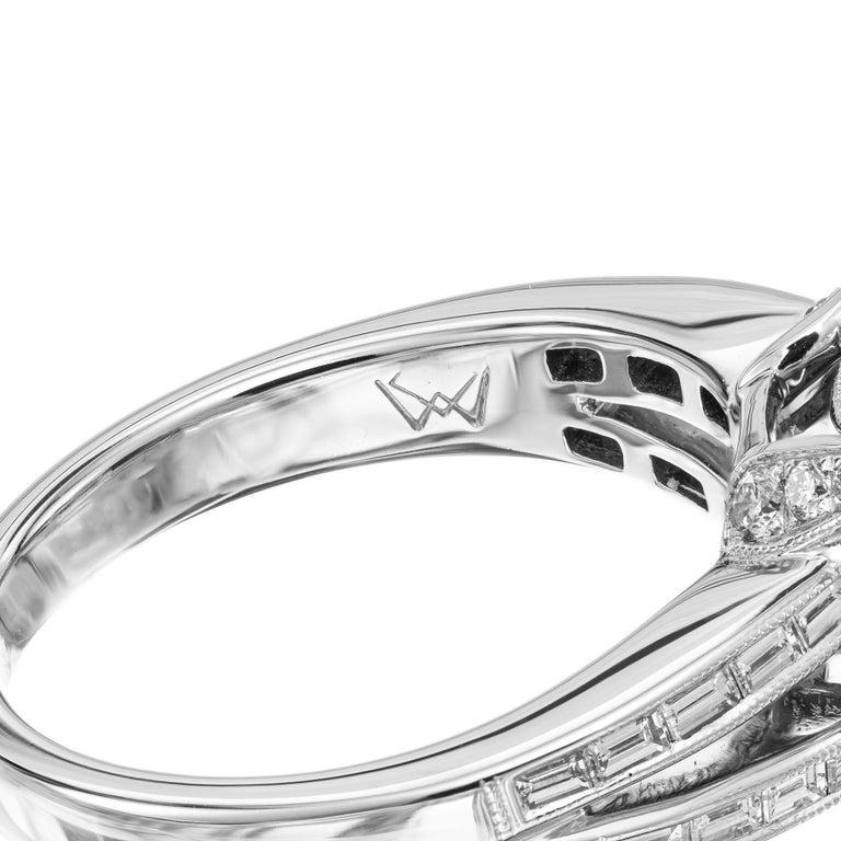GIA Certified 6.90 Carat Tourmaline Diamond Platinum Ring 3