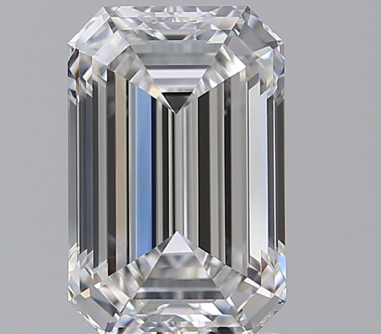 GIA Certified 7 Carat Emerald Cut Diamond Ring F Color VS2 In New Condition For Sale In Rome, IT